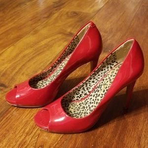 Jessica simpson red high heel shoes